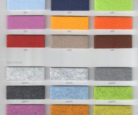 New range of Polyester Coloured Felts
